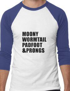 Moony, Wormtail, Padfoot & Prongs Men's Baseball ¾ T-Shirt