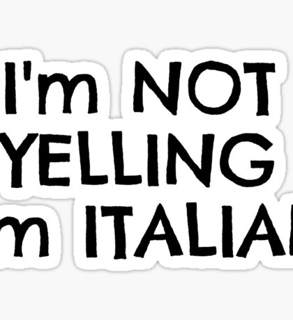 Funny Italy Europe Nationality Italian Joke T-Shirts Sticker