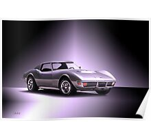 1971 Corvette C3 Stingray ZR1 Poster