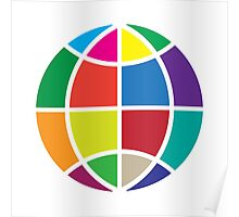 Colors Globe Poster