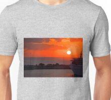 Sunrise over Heraklion Harbour Unisex T-Shirt