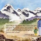 Courage and Hope- Jeremiah 29:11 by Diane Hall