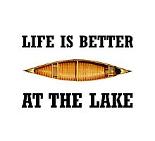 Better At Lake Photographic Print
