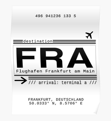 FRA Flughafen Frankfurt am Main Poster