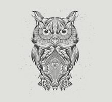Hand Drawn Abstract Owl Unisex T-Shirt