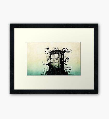 Doctor Who Work Tardi Framed Print