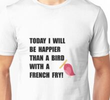 Bird With French Fry Unisex T-Shirt