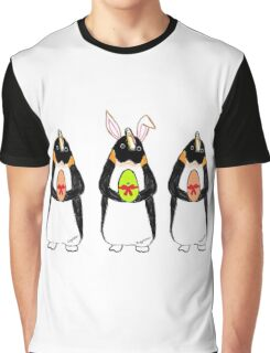 Easter Bunny-Penguin Graphic T-Shirt