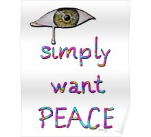 I simply want peace - Version 4 Poster