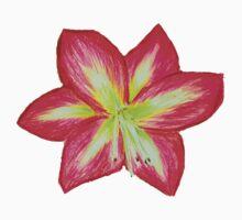 Pink Amaryllis Flower One Piece - Short Sleeve