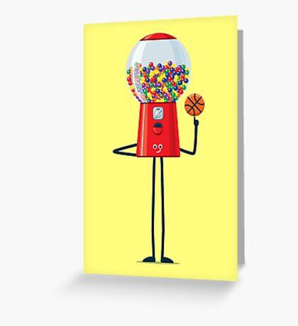 Character Building - Gumball Basketballer Greeting Card