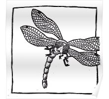 Graphic Dragonfly Poster