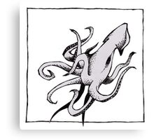 Graphic Squid Canvas Print