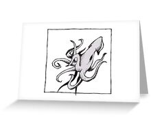 Graphic Squid Greeting Card