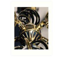 STEAMPUNK ABSTRACT BRASS METALWORK Art Print
