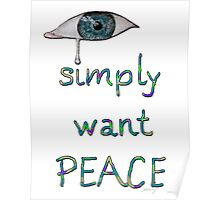 I simply want peace - Version 12 Poster