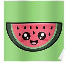 Kawaii Watermelon Poster