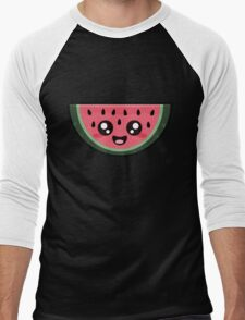 Kawaii Watermelon Men's Baseball ¾ T-Shirt