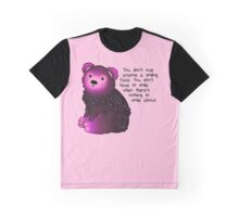 """""""You don't have to smile"""" Galaxy Bear Graphic T-Shirt"""