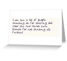 Liam payne tweet Greeting Card