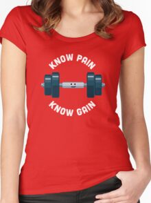 Character Building - Know Pain, Know Gain Women's Fitted Scoop T-Shirt