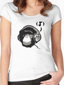 Chimp Tunes Women's Fitted Scoop T-Shirt