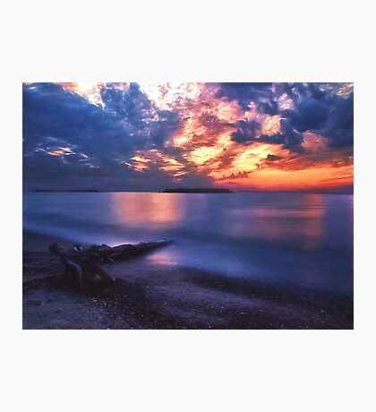 The Beach at Sunset Photographic Print