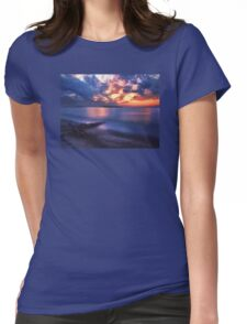The Beach at Sunset Womens Fitted T-Shirt