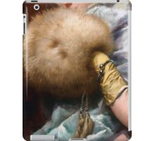 Woman With A Fur Muff, Spanish Old Master painting iPad Case/Skin