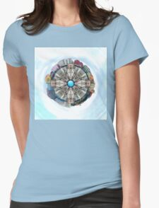 Small World In The Clouds Womens Fitted T-Shirt