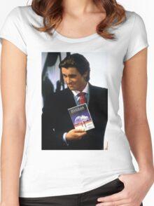Neon genesis evangelion american psycho Women's Fitted Scoop T-Shirt