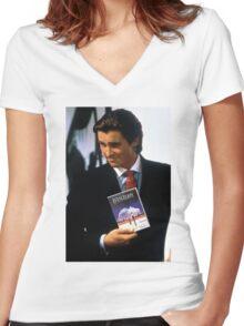 Neon genesis evangelion american psycho Women's Fitted V-Neck T-Shirt