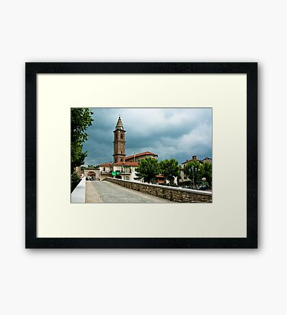 Dark clouds over Monastero Bormida Framed Print