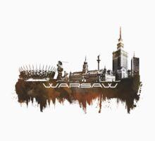 Warsaw skyline city brown One Piece - Long Sleeve