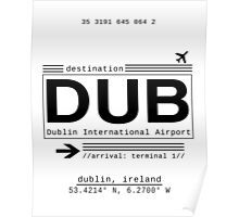 DUB Dublin International Airport Poster