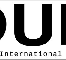 DUB Dublin International Airport Sticker