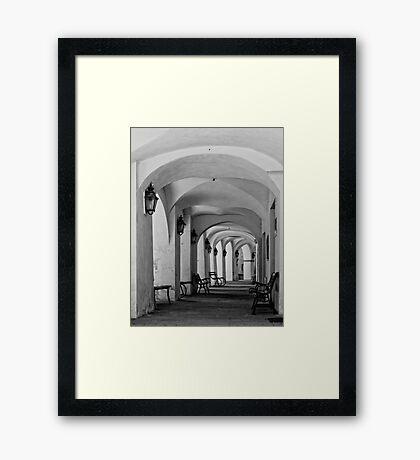 Gallery in b&w Framed Print