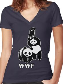 WWF [Alternative Version] Women's Fitted V-Neck T-Shirt