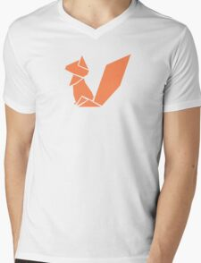 Origami Squirrel illustration Mens V-Neck T-Shirt