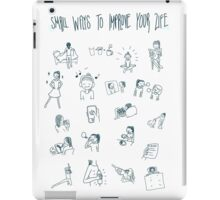 Small ways to improve your life! iPad Case/Skin