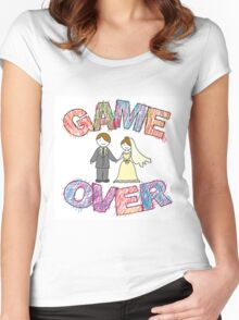 Funny wedding, Game Over. Women's Fitted Scoop T-Shirt