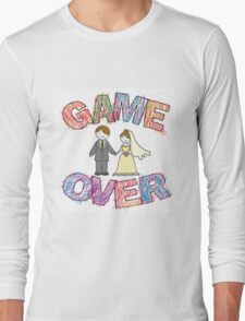Funny wedding, Game Over. Long Sleeve T-Shirt
