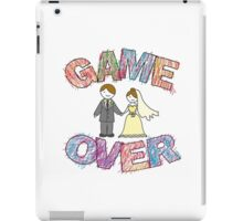 Funny wedding, Game Over. iPad Case/Skin