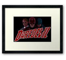 Daredevil pixel logo Framed Print