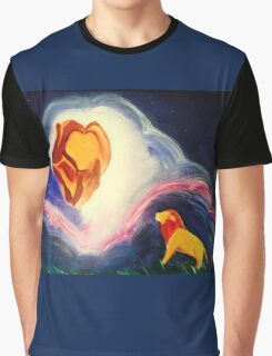 Lions magic clouds sky night Graphic T-Shirt