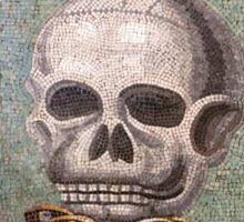 Memento Mori mosaic from Pompeii Sticker