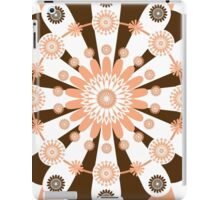 White Brown And Peach Medallions iPad Case/Skin