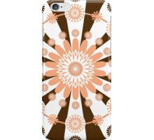 White Brown And Peach Medallions iPhone Case/Skin