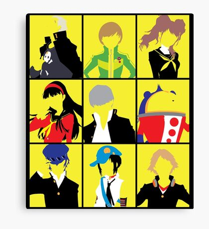 Persona 4 golden cast Canvas Print