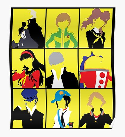 Persona 4 golden cast Poster